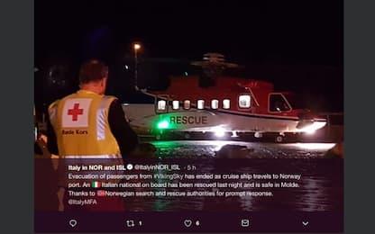 Norvegia, in salvo anche un italiano che era a bordo della Viking Sky