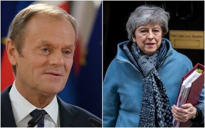 """Brexit, May chiede rinvio. Fonti Ue: """"Tusk pronto a proroga"""""""