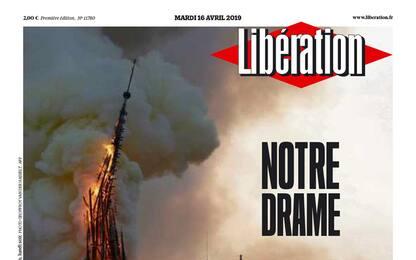 """Incendio a Parigi, Notre Dame su Libération diventa """"Notre Drame"""""""