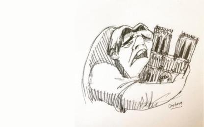 Notre-Dame, il mondo piange sui social. FOTO
