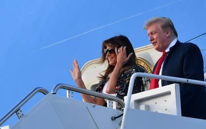 Donald Trump e Melania arrivano in Florida per la Pasqua