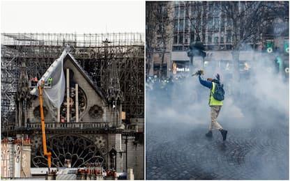 Gilet Gialli, domani manifestazioni vietate davanti a Notre Dame
