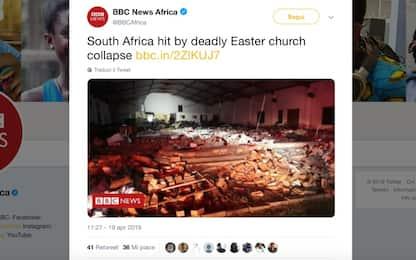 Sudafrica, crolla chiesa durante un rito di Pasqua: almeno 13 morti