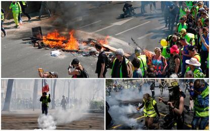 Gilet gialli, ancora proteste: quasi 250 fermi. Scontri a Parigi
