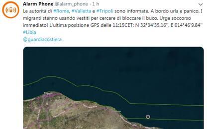 Migranti, Alarm Phone: barcone in avaria in acque libiche