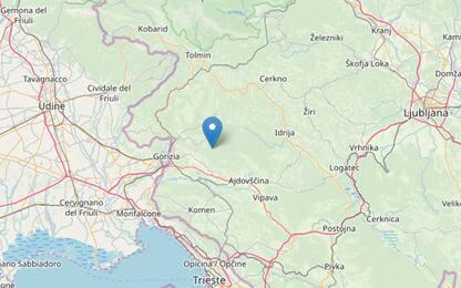Terremoto, scossa vicino a Gorizia