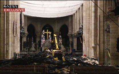 Incendio Notre Dame, le immagini dall'interno a un mese dal rogo
