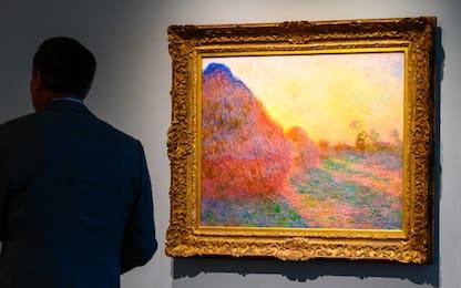 "Monet, asta record: i ""Covoni"" battuti a 110 mln di dollari"