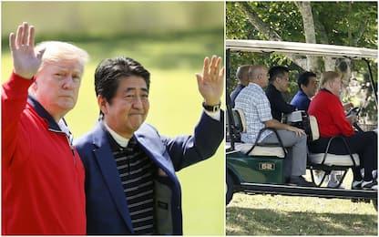 Trump e Abe giocano a golf, ma l'intesa commerciale sembra lontana