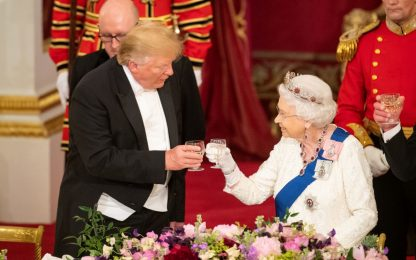 Cena di gala Trump-regina Elisabetta. FOTO