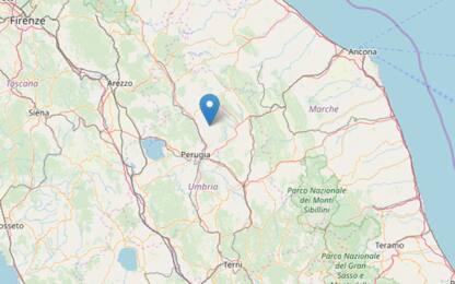 Terremoto in provincia di Perugia, scossa di magnitudo 3