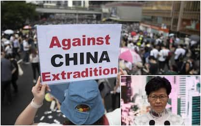 "Hong Kong, governatrice Lam: ""La legge sulle estradizioni è sospesa"""