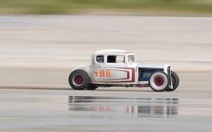 Pendine Sands Hot Rod Races, la gara di auto è vintage. FOTO