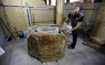 Betlemme, scoperta nuova fonte battesimale: FOTO