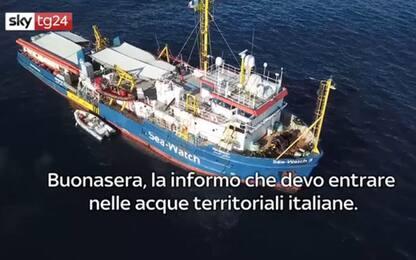 "Sea Watch 3, capitano a Capitaneria: ""Entro in acque italiane"". AUDIO"