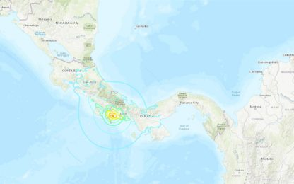 Terremoto tra Panama e Costa Rica, scossa di magnitudo 6.2