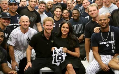 Harry e Meghan tra i Boston Red Sox e i New York Yankees
