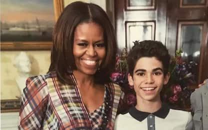 """Michelle Obama ricorda Cameron Boyce: """"Fortunata di averlo conosciuto"""""""