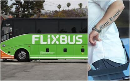 Flixbus sospende autista italiano con tatuaggio Mein Kampf sul braccio