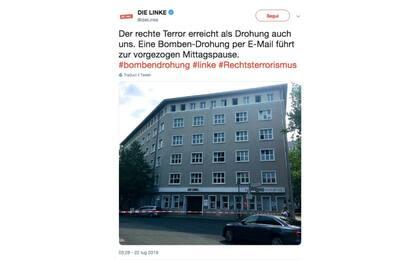 """Germania, falso allarme bomba nella sede di """"Die Linke"""" a Berlino"""