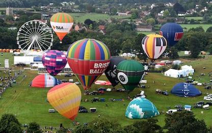 International Balloon Fiesta, mongolfiere a Bristol. FOTO