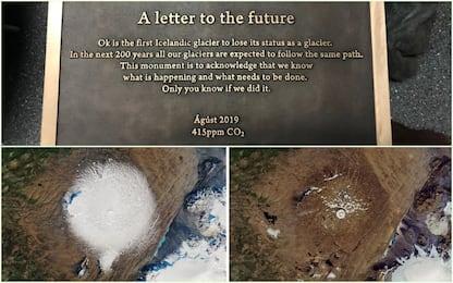 """Islanda, """"funerale"""" e targa commemorativa per il ghiacciaio scomparso"""