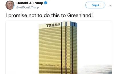 Trump: prometto che non costruirò un grattacielo in Groenlandia