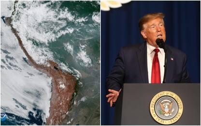 """Incendi in Amazzonia, Trump: """"Pronti ad aiutare"""""""