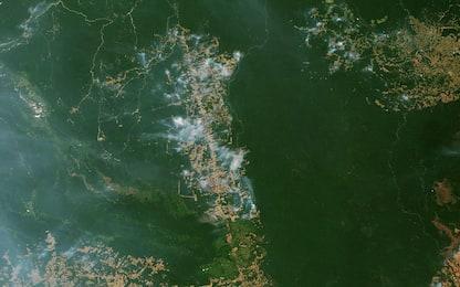 Incendi in Amazzonia, il fumo è visibile dallo spazio. FOTO