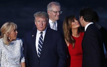 G7, il bacio tra Melania Trump e Justin Trudeau. FOTO