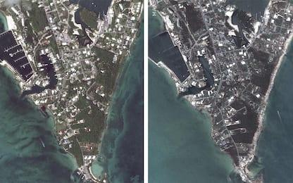 Uragano Dorian alle Bahamas, prima e dopo il passaggio. FOTO