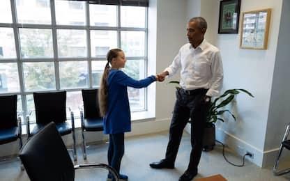 """Obama incontra Greta: """"Uno dei più grandi difensori del pianeta"""""""
