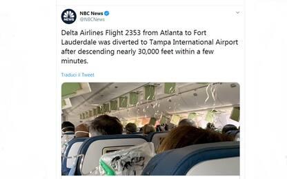 Usa, panico su un volo Delta: aereo giù di 9mila metri in pochi minuti