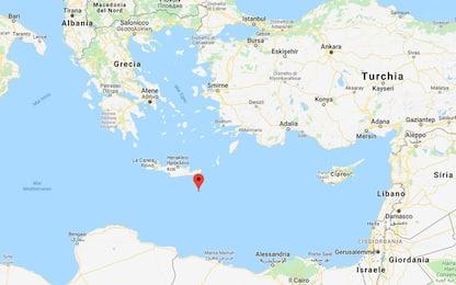 Terremoto in Grecia, scossa al largo di Creta