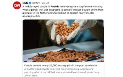 Austria, ordinano abiti e ricevono ecstasy per posta