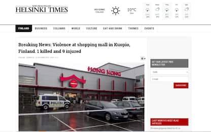 Attacco in un centro commerciale in Finlandia, un morto e 10 feriti