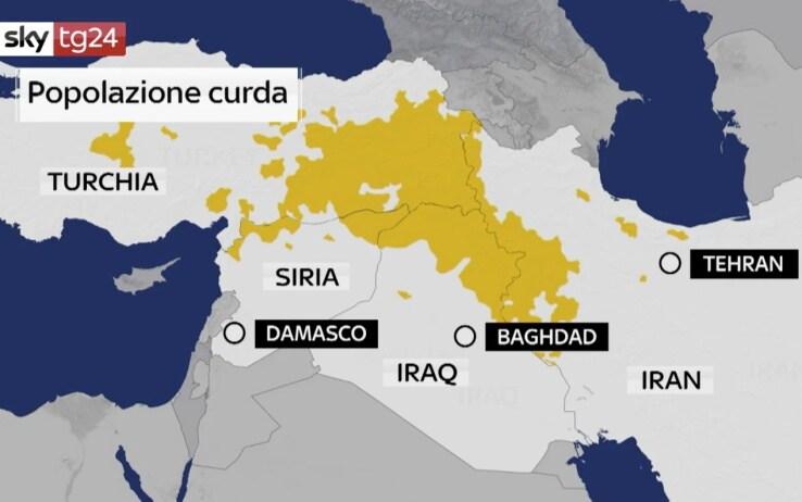 Cartina Kurdistan.Chi Sono I Curdi Storia Del Popolo Senza Stato Sky Tg24