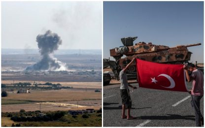 Siria, civili in fuga. Germania e Francia bloccano armi a Turchia