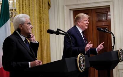 """Mattarella da Trump: """"Dazi dannosi per nostre economie"""""""