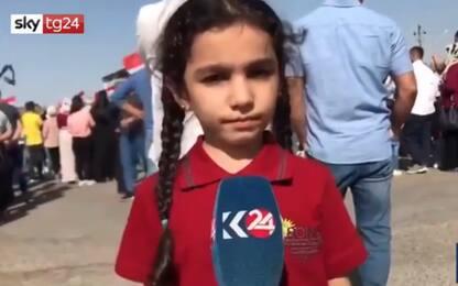 """Siria, l'appello della bimba curda: """"Fermate la guerra"""". VIDEO"""