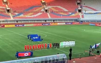 Stadio vuoto per Corea del Nord -Corea del Sud: finisce 0 a 0. VIDEO