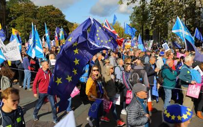 """Brexit, """"un milione"""" in piazza per un referendum bis. FOTO"""