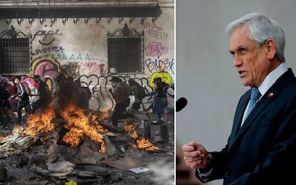 Rivolte Cile, presidente Piñera annuncia riforme sociali