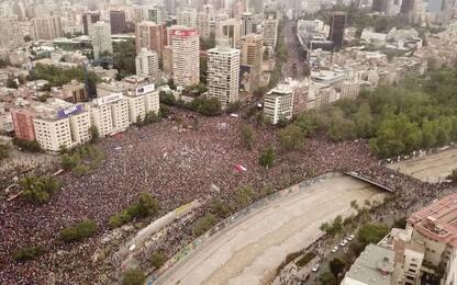 Cile, oltre un milione in piazza per protestare. FOTO