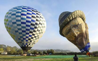 Festival delle mongolfiere di Coruche, in Portogallo. FOTO