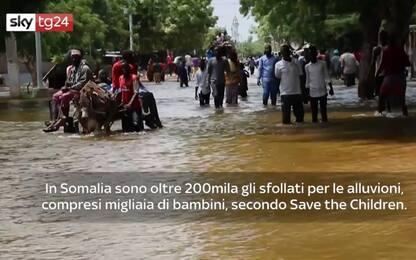 Somalia, oltre 200mila sfollati per le alluvioni. VIDEO