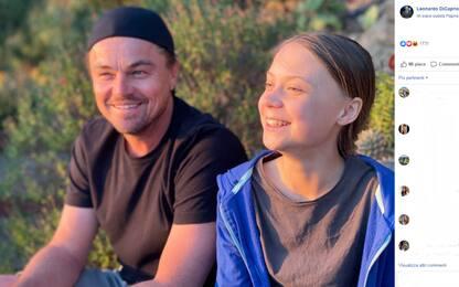 """Leonardo di Caprio insieme a Greta Thunberg: """"Un onore stare con lei"""""""