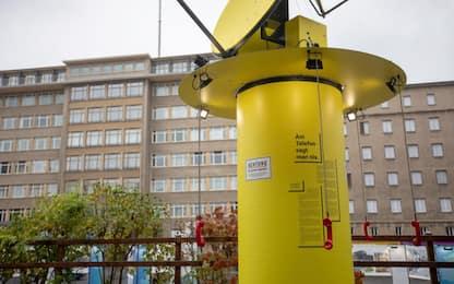 Muro di Berlino, l'installazione al museo della Stasi. FOTO