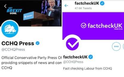 Elezioni Gb, accuse ai Tory per falso fact checking su Twitter