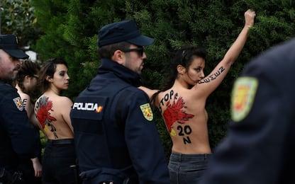 Spagna, Femen alla commemorazione del dittatore Franco. FOTO
